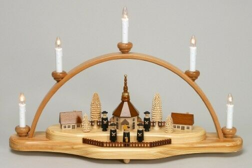 Natural Seiffen Electric German Candle Arch CHZ202X311K