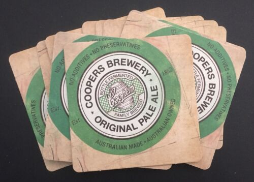 10 X Coopers Pale Ale Coaster Mancave Collectables Beer Bar