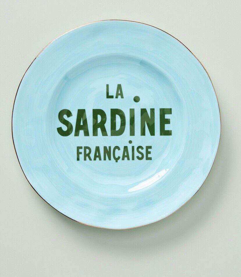 New Anthropologie Dessert Salad Side Plate Sardine Artist Clare V Maisonette Blu Ebay