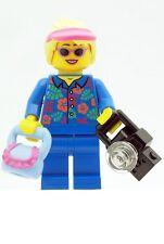LEGO Holiday Girl with Glasses, Sun Visor, Bag and Camera NEW