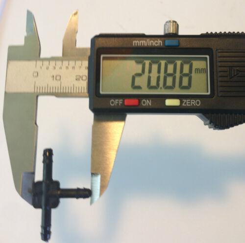"2x Fits Nova Plastic Vacuum Hose Splitters Y T Connectors Windshield Washer 1//8/"""