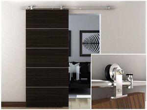 6-6-FT-Stainless-Steel-Interior-Modern-Sliding-Barn-Wood-Door-Hardware-Track-Set