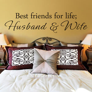 Wedding Romantic Wall Decal Best Friend For Life Husband Wife Quote