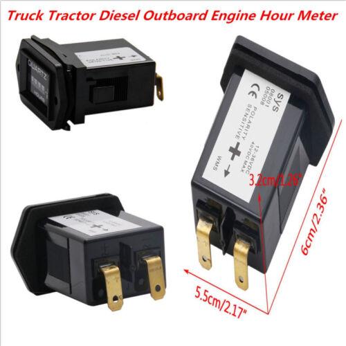 Universal Truck MotorcyleTractor Diesel Outboard Engine Hour Meters Rectangular