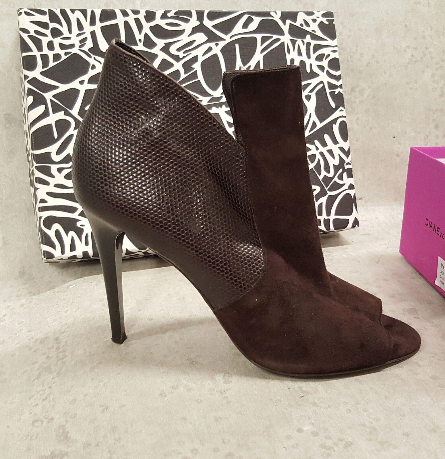 Diane Von Furstenberg boot booties high heels ALI  ALI heels sz 10 B NEW IN BOX a721d9