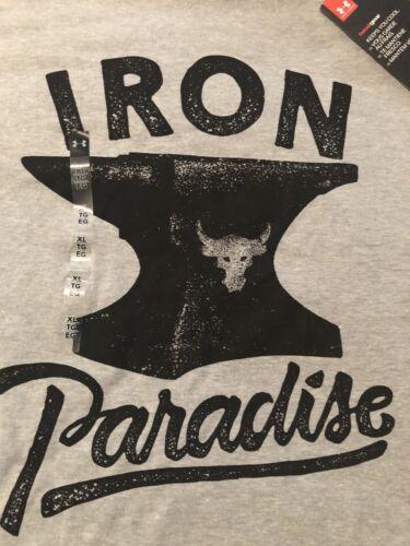 Under Armour UA x Project Rock Iron Paradise Shirt 1326388-035 Sz XL NWT
