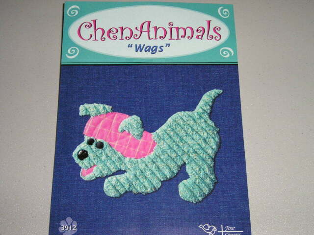 Applique pattern for wags puppy chen animals four corners designs