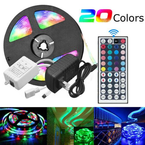 LED Strip Light 5050 SMD RGB 5M 300 Waterproof IR Controller 12V Power Adaptor K