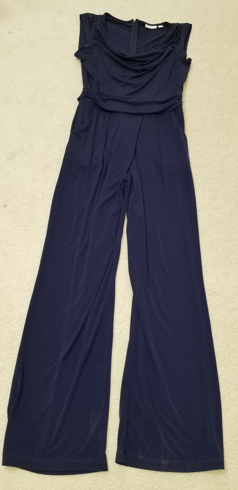 NEW YORK & Company Dark bluee Stretch Soft Knit Evening Jumpsuit  Sz. M