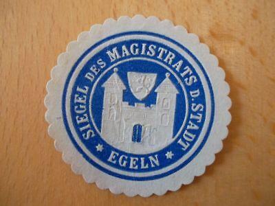 Siegelmarke Magistrat Der Stadt Egeln Und Verdauung Hilft 15018 MüHsam