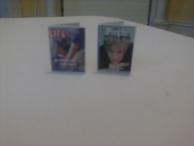 Princess Diana and 9//11 Magazines dollhouse miniature books
