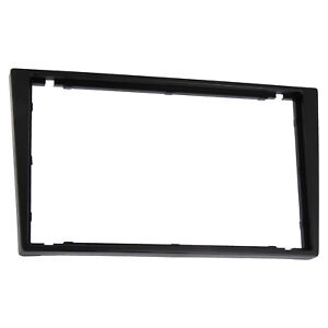 Black-Vauxhall-Corsa-Tigra-Vectra-Double-Din-Fascia-Facia-Panel-Adapter-Plate