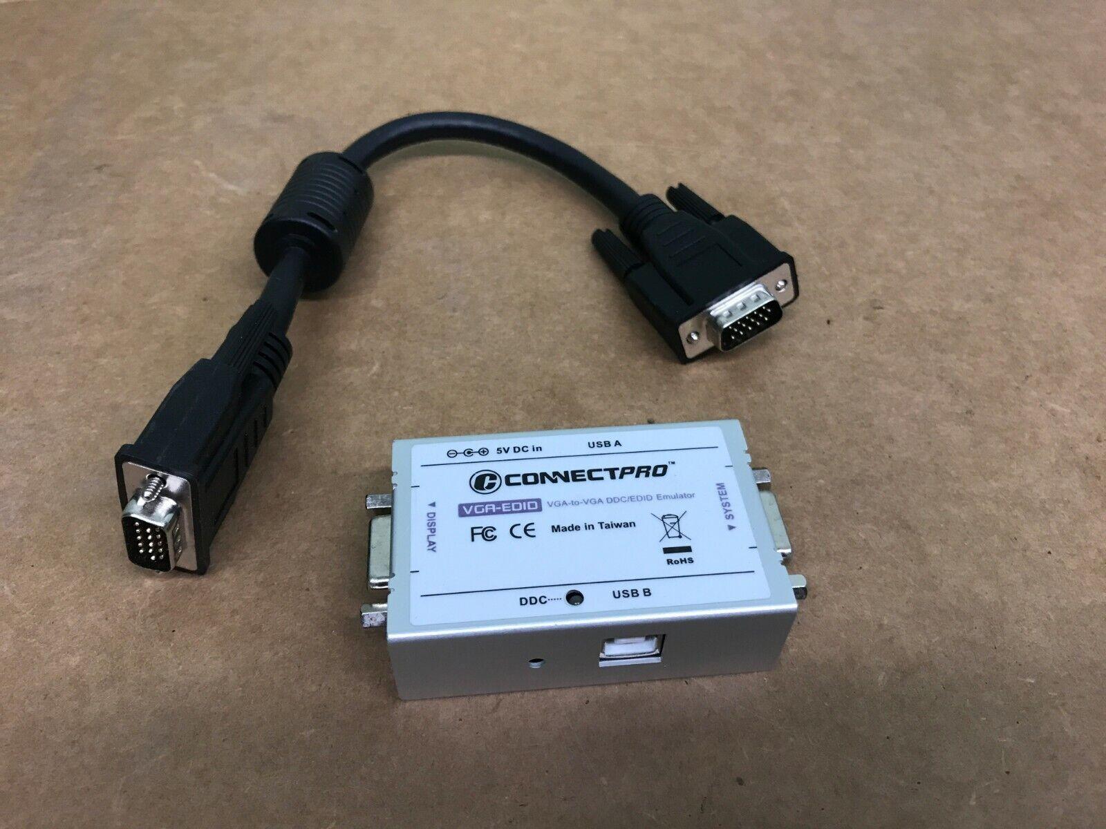 NEW ConnectPRO VGA-EDID VGA-VGA DDC//EDID Professional Ghost Emulator