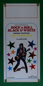 L46 Plakat Adriano Celentano Eine Strange Typ Bleck E White Rock'n Roll