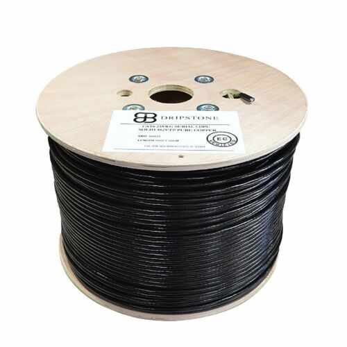 CAT6 1000FT SF//UTP DIRECT BURIAL CABLE 550MHZ PURE COPPER OUTDOOR 23AWG ETL