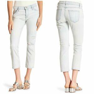 00c8423948073b $228 Current Elliott Size 28 Crop Straight Leg Jeans Channon Destroy ...