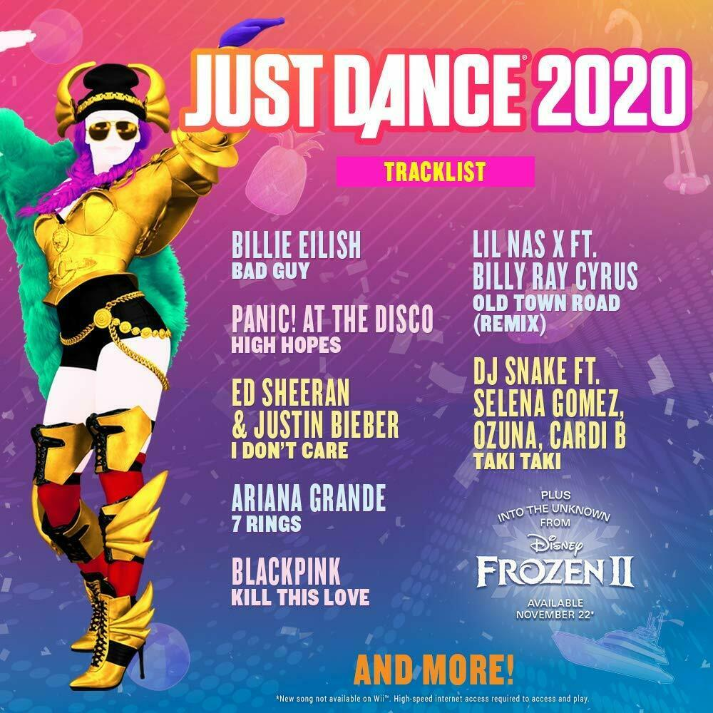 Just Dance 2020 Sony Playstation 4 [PS4 Ubisoft Neon-Dancing 40+Tracks] NEW