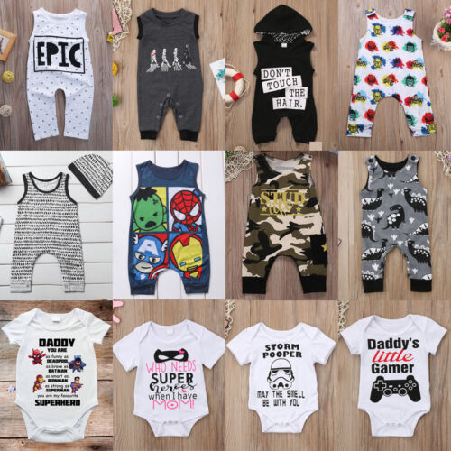 US Newborn Infant Kid Baby Boy Girl Romper Bodysuit Jumpsuit Clothes Outfits Set