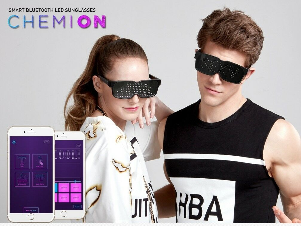 Chemion 2 Smart Sunglasses Party Club bleutooth LED Activities
