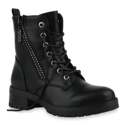 Damen Schnürstiefeletten Leicht Gefütterte Stiefeletten Zipper 831653 Schuhe