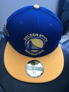 f9532eac1 Details about Golden State Warriors 2017 NBA Finals 59FIFTY-7-3/8 2-Tone  Side Patch Fitted Hat