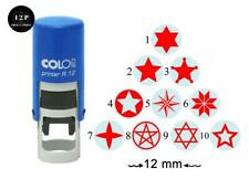 PrintValue Symbol of Rhinoceros Round Self Inking Rubber Stamp COLOP R12 Mini Stamps Teachers Stamps 12mm
