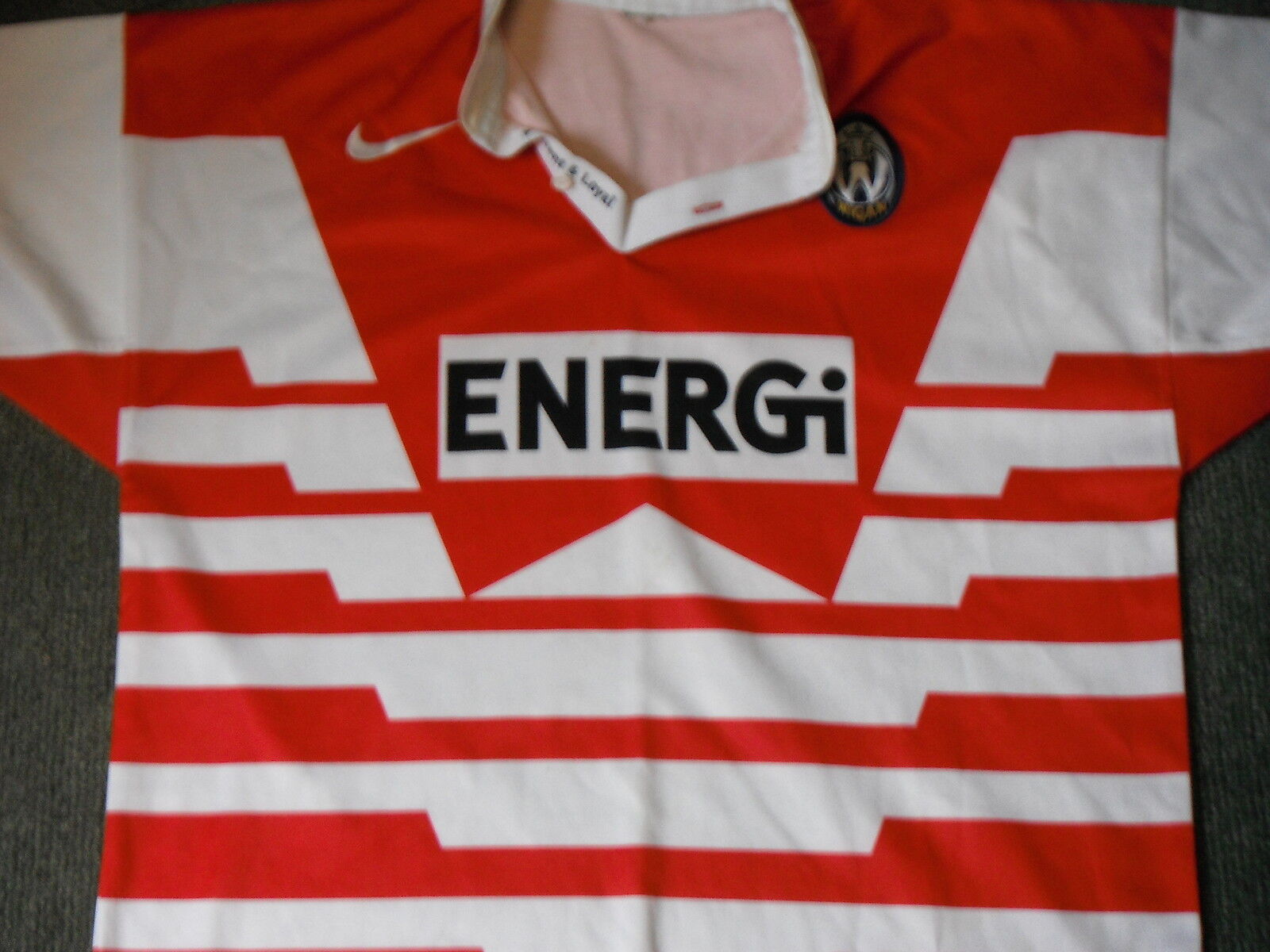 Vintage Wigan RLFC Extra Large Mens Rugby League Shirt