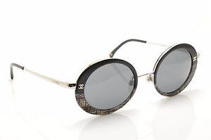 💎 CH 4182 428 3 F 3N novos, autênticos óculos De Sol Redondo CHANEL ... f37da83273