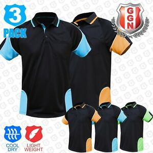3x-HI-VIS-POLO-Shirts-HIVIS-ARM-PIPING-PANEL-WORK-WEAR-COOL-DRY-SHORT-SLEEVE