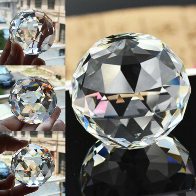 789b3d5931 Feng Shui Hanging Crystal Ball 30-80mm Sphere Prism Faceted Sun Catcher  Clear