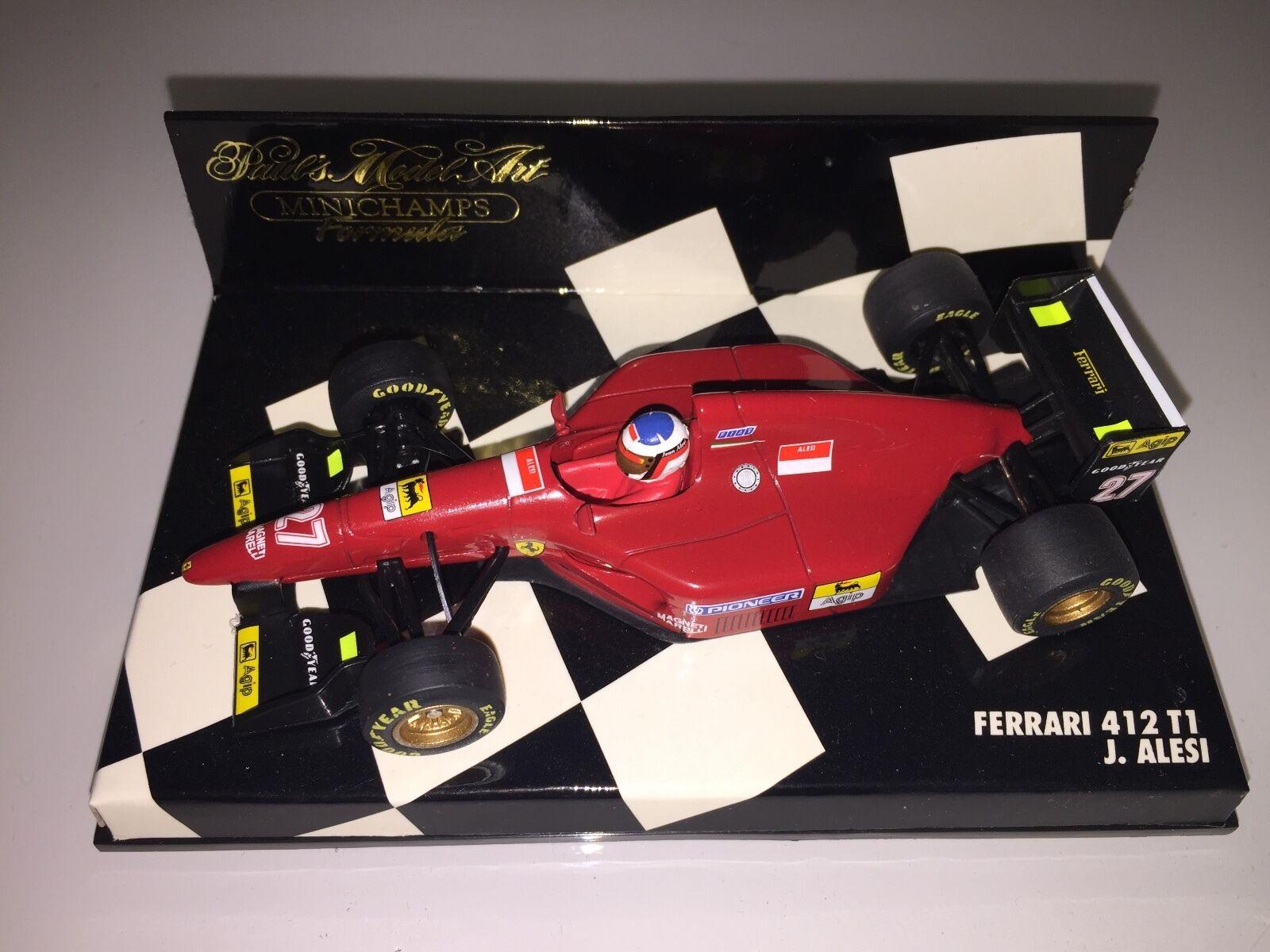 MINICHAMPS 1 43 430950027 - FERRARI 412 T1 & T2 F1 J.ALESI - 1995