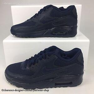 Detalles acerca de Nike Air Max 90 GS Zapatillas De Malla para mujeres y  chicas Obsidiana Informal Zapato Rrp £ 110- mostrar título original