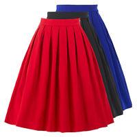 50er RETRO Vintage SWING ROCK Tellerrock Petticoat-Rock Midi Hausfrau Kleider