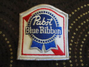 NEW UNUSED ORIGINAL PABST BLUE RIBBON BEER PATCH PBR HAT SHOULDER COAT CLOTH USA