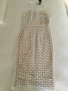 Ladies COOPER ST Karlie High Neck Lace White/Ivory Cocktail Dress Size 10 - NEW