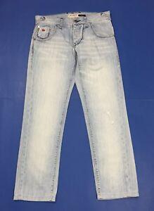 Energie-burney-jeans-uomo-slim-w33-tg-46-47-denim-blu-boyfriend-straight-T3202