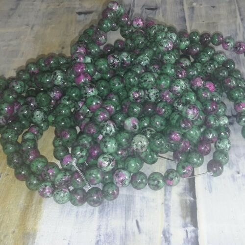 Free postage Natural Ruby in Zoisite  8-9mm  Approx 46 pce Strand Oz Seller