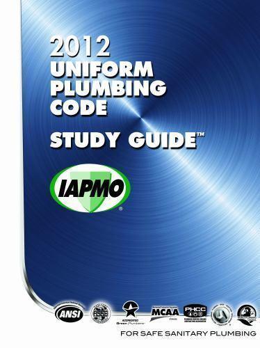 2012 Uniform Plumbing Code Study Guide By International Association