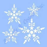 Snowflakes Stencil 4 Sizes Christmas Snowflake Stencils Template Craft 9