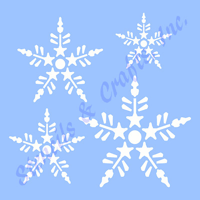 SNOWFLAKES STENCIL CHRISTMAS SNOWFLAKE STENCILS TEMPLATE TEMPLATES CRAFT #1 NEW