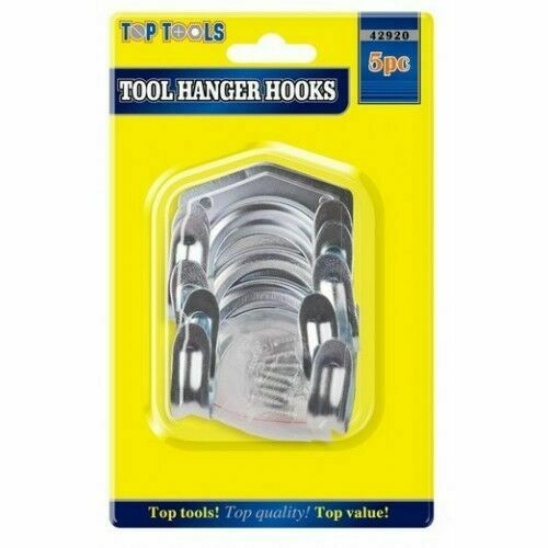 10 x Tool Storage Hooks Garden Workshop Garage Shed Double Arm Tools Tidy Hook