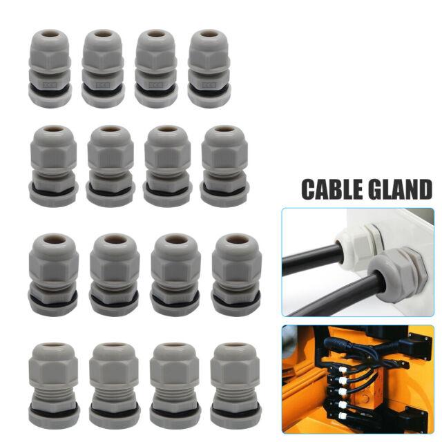 8/mm presse-/étoupes joints Connecteurs PG9/10/pcs Noir Cordon /étanche 4
