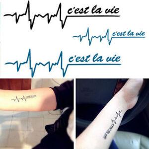 0e6877fd2 2Sheet Pattern Designs Arm Chest Fake Tattoo Body Arts Sticker Henna ...