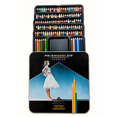 Prismacolor Premier Soft Core Colored Pencils 132 Colors Tin Set 4484