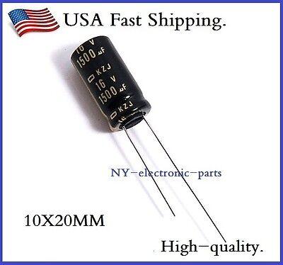 20pcs 1500uf 16v Rubycon Radial Electrolytic Capacitors MCZ low ESR 16v1500uf