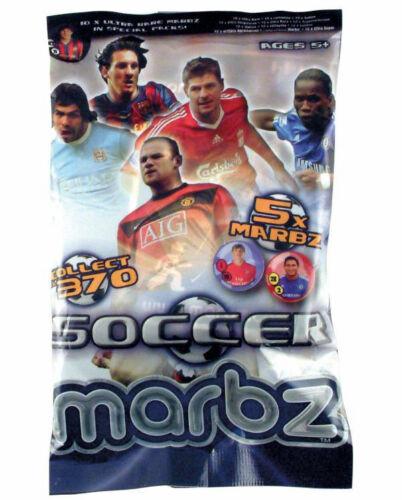10 paquets marbz soccer marbz par corinthien 5 x marbz Trading Carte de jeu par Pack