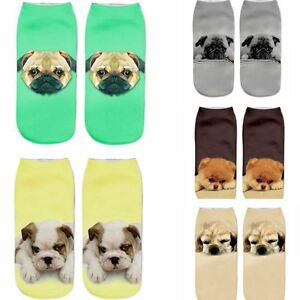 Women-Unisex-Harajuku-Cute-3D-Print-Dog-Cotton-Socks-Low-Cut-Ankle-Boat-Sock-New