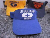 (1)speedo Lifeguard Unisex Visor One Size/adjustable Velcro (choose Color)nwt