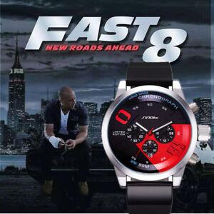 Date Sinobi And 8 Sur Chronograph Marque Détails Montre Furious Etanche Fast Promo Homme Top 0nmN8w