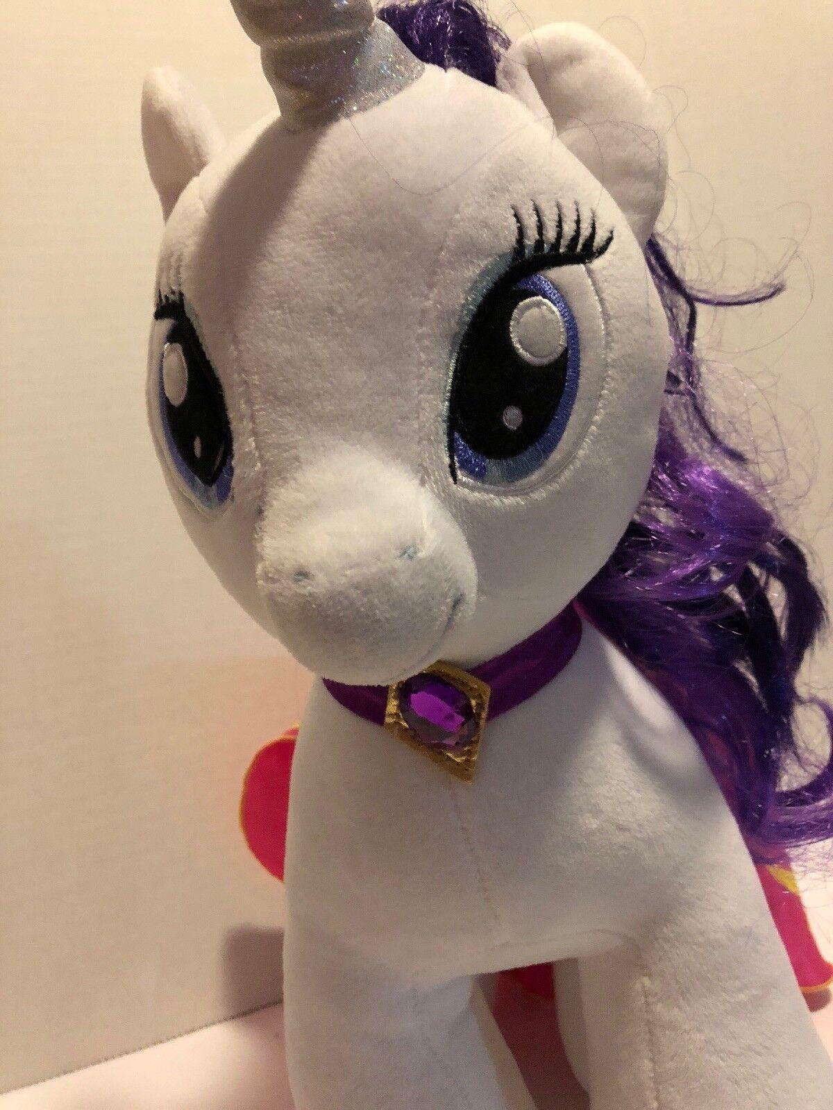 Build Build Build A Bear Worknegozio - My Little Pony Rarity bianca Unicorn viola Diamonds Cape 54fbb0